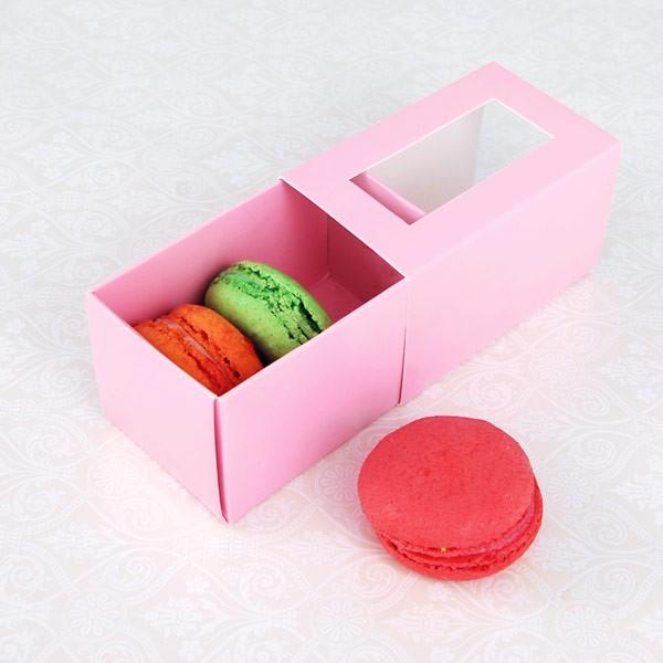 3 Pink Macaron Window Boxes($1.55/pc x 25 units)