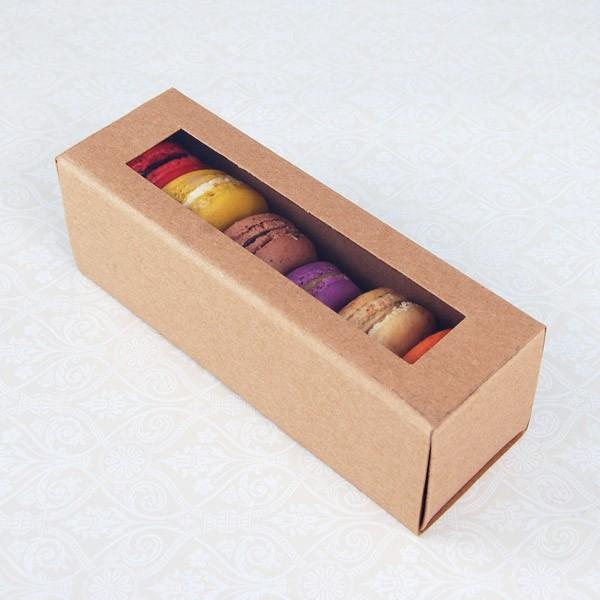 6 Macaron Kraft Brown Boxes($1.90/pc x 25 units)