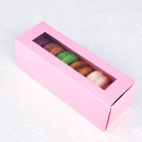 6 Pink Window Macaron Boxes($1.90/pc x 25 units)