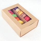 12 Macaron Kraft Window Boxes ($2.60/pc x 25 units)