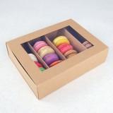 24 Macaron Kraft Window Boxes ($3.50/pc x 25 units)